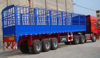 THREE AXLES ANIMAL TRANSPORT SEMI TRAILER