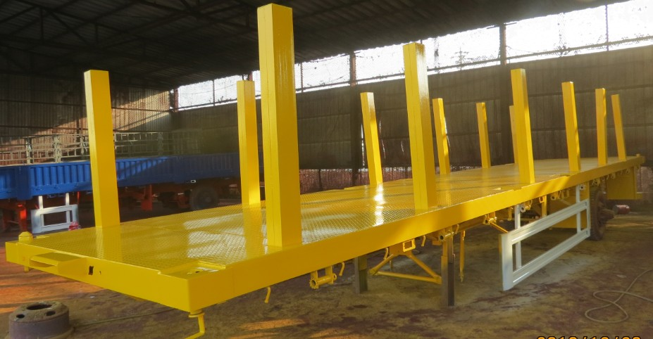 Muti-function Flat Bed Semi Trailer with Side Stakes